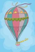 Vintage hot air balloon — Stock Vector