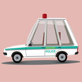 Funny cartoon miami police car — Vector de stock