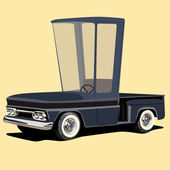 Funny cartoon styled pickup truck — Stock Vector