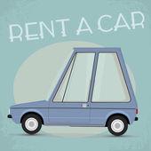 Starym stylu komiks stylu wynajem samochodu plakat — Wektor stockowy