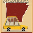 Stock Vector: Arkansas road trip vintage poster