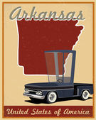 Arkansas road trip vintage poster — ストックベクタ