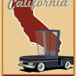 Stock Vector: Californiroad trip vintage poster
