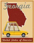Georgia road trip vintage poster — Vetorial Stock