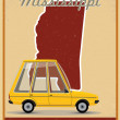 Mississippi road trip vintage poster — Wektor stockowy  #39606173