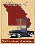 Missouri road trip vintage poster — Stock Vector