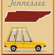 Stock Vector: Tennessee road trip vintage poster