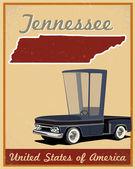 Tennessee drogi wyjazd rocznika plakat — Wektor stockowy