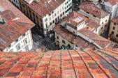 Italian streets, old town of Florence, Italy — Stock Photo