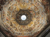 Florence, Italy, the wonderful masterpiece of The Judgment Day, inside the Dome — Stock Photo