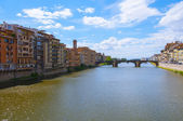 Ponte Santa Trinita medieval Bridge in Florence Italy — Stock Photo