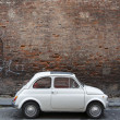 JUNE - JUNE 13: A Fiat 500 on June 13, 2014 on the street of Pisa — Stock Photo #49578363
