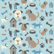 Doggy Collection: Seamless Pattern — Stock Vector