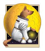 Moondog — Stock Vector