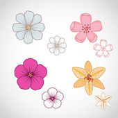Flower Lineart Set 2 — Stock Vector