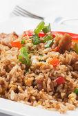 Reis mit gemüsepflanzen — Stockfoto