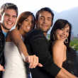 Stock Photo: Two couples having fun