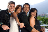 Two couples having fun — Stock Photo