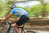 Man riding bicycle — Stock Photo