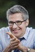 Portrait of a businessman smiling — Stock Photo