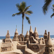 Sand castle on the beach — Stockfoto