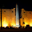 Luxor Temple and Obelisk by night — Foto Stock