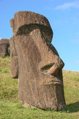 Moai at Rano Raraku, Easter Island — Stock Photo