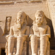 Statues of Ramesses II at Abu Simbel, Egypt - Stock Photo