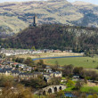 Battlefield of Stirling and Abbey Craig, Scotland - Stock Photo