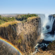 Victoria Falls and Victoria Falls Bridge — Stock Photo