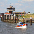 Stock Photo: Port entrance North Sea