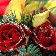 Stock Photo: Christmas flower bouquet