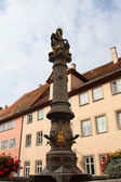 Fountains in Rothenburg ob der Tauber — Stock Photo