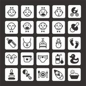 Beby icons set — Stock Vector