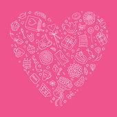 Cute heart — Stock Vector