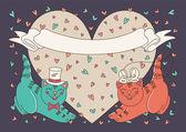 Gatitos felices — Vector de stock