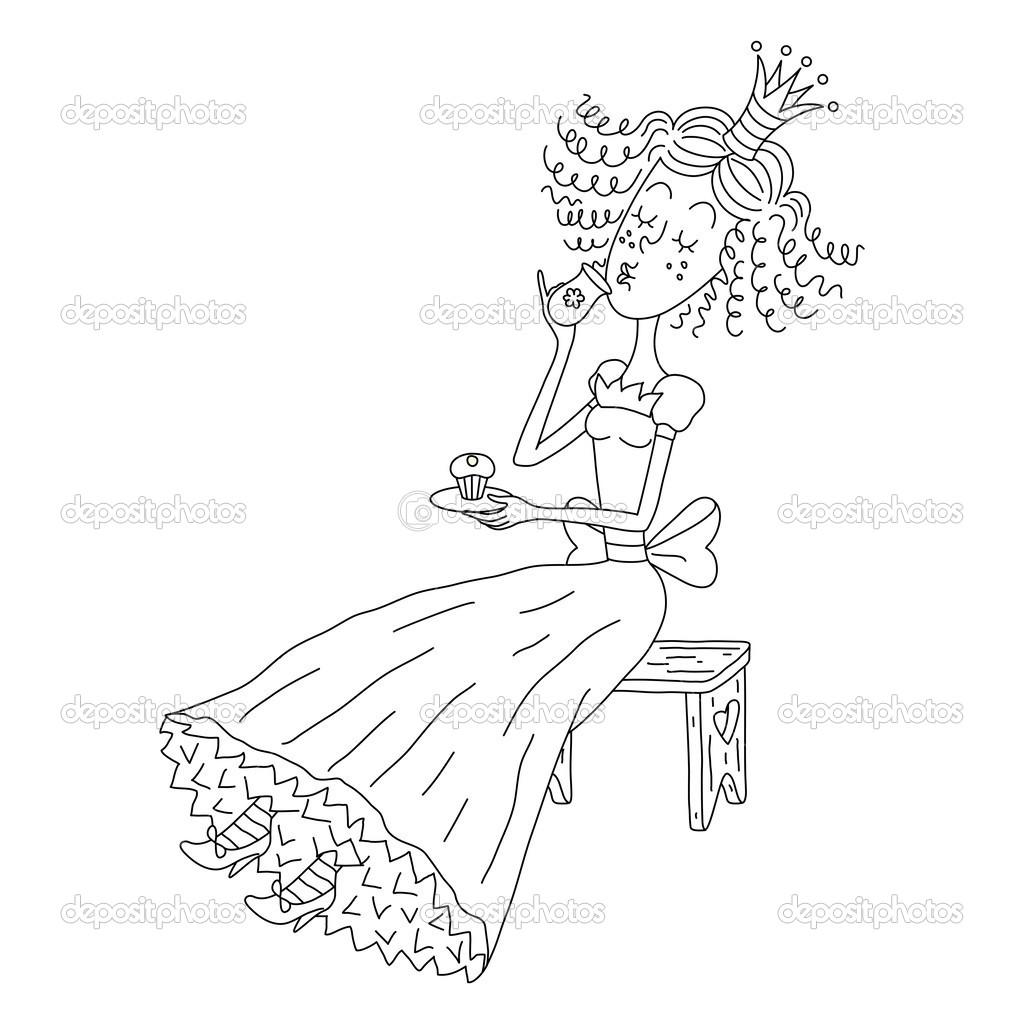 可爱小公主 — 图库矢量图片