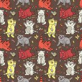 Gatinhos cute vector — Vetorial Stock