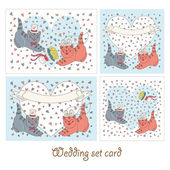 Wedding set cards — Vetorial Stock