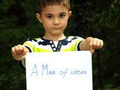 A Man of ideas — Stock Photo