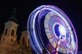 Ferris wheel at night in Graz — Stock Photo