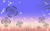 抽象的な花の背景 — ストック写真