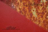 Прежде и после — Стоковое фото