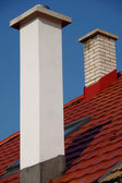 Chimneys on the roof — Stock Photo
