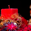 Stock Video: Square Christmas candles