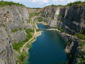 Stone quarry Big America near Prague, Czech Republic — Stock Photo