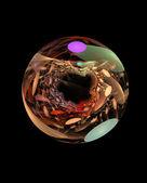 Streszczenie fraktal piłka — Zdjęcie stockowe
