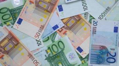 Billetes en euros — Vídeo de stock