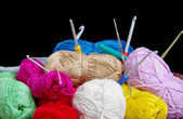 Yarn for crocheting — Stock Photo