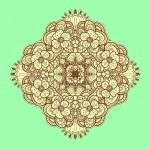Ornamental symmetrical square lace pattern. — Stock Vector #19163351